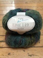 Lot of 2 balls of Online Linie 149 Rush yarn, wool/acrylic, blue/green/purple