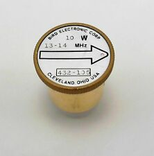 Bird 43 Wattmeter Element Slug 432-105 13-14 Mhz 10W (Used) covers 13.56 Mhz