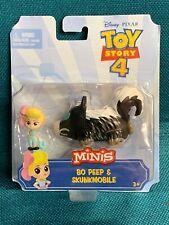 Disney Pixar Toy Story 4 Minis Bo Peep and Skunkmobile. NIP NEW