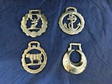 Four UK Canal Brass Plaques