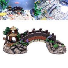 Aquarium Résine Pont Paysage Réservoir de poissons Décoration pavillon arbre