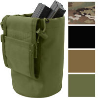 Roll Up Dump Pouch Tactical Utility Case Folding Cylinder Bucket Military MOLLE