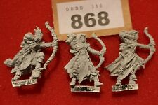 Games Workshop WARHAMMER Wood Elves waywatchers x3 metallo Elf REGGIMENTO fuori catalogo Sigmar
