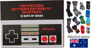Genuine NINTENDO Mario Zelda DK 12 socks box Shoe Retro Novelty Fathers Day Gift