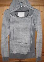 Ocean Drive Women's Pullover Hoodie Raglan Fleece Lined Gray Marl Size Medium