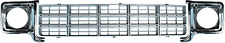 77-78 Chevy C10 Truck Silver Grille and LH & RH Chrome Headlight Bezels (Pair)