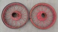 "pair HOUK 23"" inch WIRE SPOKE WHEELS velie stutz studebaker buick lincoln dodge"