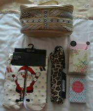 Bundle Christmas stocking fillers/gifts: socks, brolly, bag, jotter, sticky note