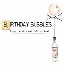 Birthday Bubbles Bexyboo Scrabbley Neon Birthday Card Handmade Greeting Cards