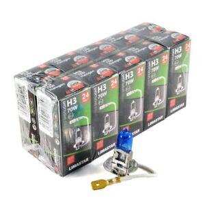 10 x H3 24V 100W Xenon White Halogen Headlight Bulbs 6000k HGV Truck