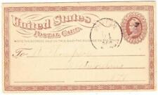 BOSTON MASSMAY/21/1874-POSTAL CARD Sc#UX3-PRIVATE PRINTED FISH MARKET PRICES