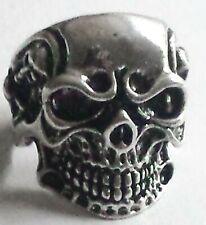 Skull Ring: Stainless Steel - Size 9