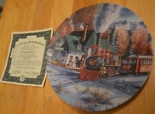 Great West Trains New Travel Over Stagecoach MOUNTAIN HIDEAWAY Plate KIRK RANDLE