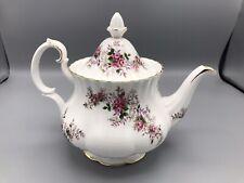 VTG Royal Albert Bone China Lavender Rose Teapot~ Made in England