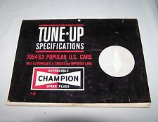 VINTAGE 1954-1963 CHAMPION TUNE-UP SPECIFICATIONS MANUAL