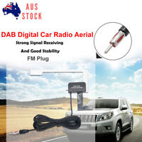 Car Window Glass Mount DAB/DAB+ Digital Car Radio Aerial Antenna FM Plug DC