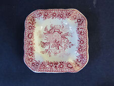 SET OF THREE - Masons Mason's England  China RED ASCOT Square Ashtrays