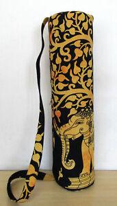 Indian Mandala Yoga Mat Handmade Gym Carrier Bag With Adjustable Shoulder Strap
