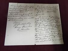 Charles Spurgeon Related Letter 1898