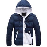 Men Warm Jacket Hooded Slim Casual Winter Coat Top Overcoat Hoodie Outwear Coats