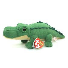 "New 6"" TY Beanie Boos Green Crocodile Spike Glitter Eyes Doll Soft Plush Toy"