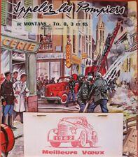 CALENDRIER 1962 POMPIER camion HOTCHKISS PL 20 25 50 AM MONTANS TARN 81 D.LORDEY