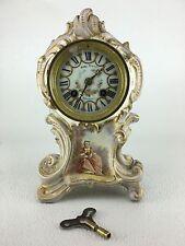 Japy Freres French Porcelain Mantel Clock for Simon Bros Phildelphia
