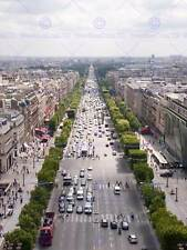 PHOTO CITYSCAPE CHAMPS ELYSEES PARIS FRANCE BUSY TRAFFIC POSTER PRINT BMP11668