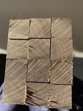 American Black Walnut Timber Offcuts 580mm X 22mm X 22mm 12 Pieces Pencil Blanks