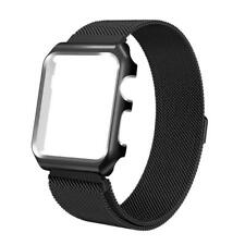 Milanese Magnetic Stainless Strap With Metal Case Frame For Apple iWatch 4 40/44
