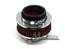 """2.5"""" 63mm Flange Cold Long Ram Air Intake Kit Bypass By Pass Valve Filter RED"""
