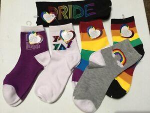 New Pride Rainbow LGBT Socks UNISEX 6 Pair New