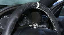 FOR RENAULT MASTER PERFORATED LEATHER STEERING WHEEL COVER + WHITE STRAP 1997-10