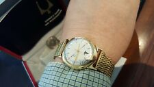 Rare Vintage 14k Gold Bulova Accutron Doctor's Alpha Case Watch 1960 1st year
