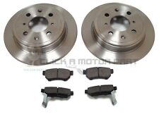 ROVER  25 45 200 400 ALL MODELS REAR 2 BRAKE DISCS AND PADS SET (NOT FOR DRUMS)