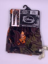 DISNEY THE LION KING SCAR Lounge Pants Pajama With Pockets MEN'S LARGE 36-38 NWT