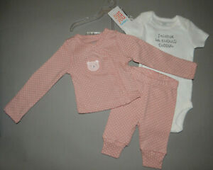 NWT, Baby girl clothes, Preemie, Carter's 3 piece set/    ~SEE DETAILS ON SIZE