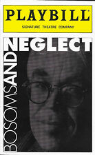 Playbill - BOSOMS AND NEGLECT - Signature Theatre Revival - December 1998 - NM