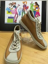 KEDS ORIGINALS 2 TONE BEIGE LEATHER HIGH TOP SNEAKERS SHOE SIZE 8 NWOB