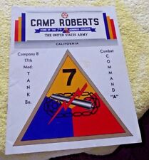 CAMP ROBERTS CAL COMAPNY B 17TH MEDIUM TANK BATTALION GENERAL SINK c.1950