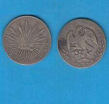 Mexique 8 Réales  argent 1877  Guadalajara  Silver Coin