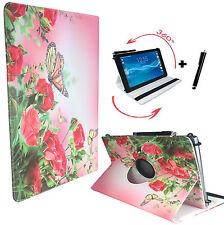 "Hülle Tasche Fujitsu Stylistic Q550 Tablet Etui 360° Rose Schmetterling 10.1"""