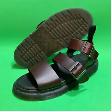New Dr Marten Gryphon Gladiator Dark Brown Leather Buckle Sandals Men's Size 9
