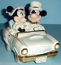 Lenox Disney MINNIE'S DREAM HONEYMOON with Mickey Mouse in Car Collectible New
