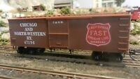 Roundhouse MDC HO Old Time 36' Boxcar, Chicago North Western, Upgraded, Exc