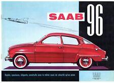 Saab 96 2-Stroke 1960-61 Sales Brochure In French