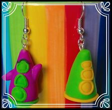 ** Day of the Tentacle earrings - LucasArts retro handmade fun quirky fimo  **