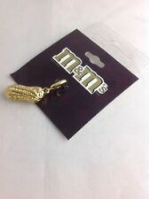 M&M's Candy Peanut Charm Gold Tone Metal By Monet Retails $18.00