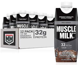 Muscle Milk Pro Series Non-Dairy Protein Shake, Knockout Chocolate (11 oz.12 pk)