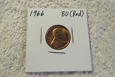 1966 Lincoln Cent (CHOICE BU RED) - Beautiful Coin!!